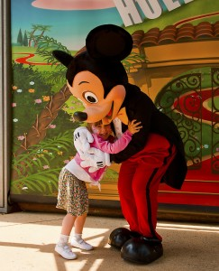 Sophia with Mickey Mouse